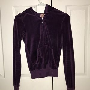 👾Juicy velvet zip up